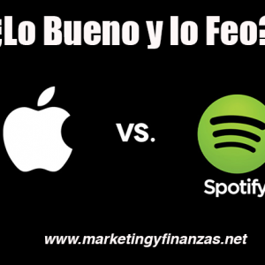 Lo Bueno y lo Feo de Apple Music y Spotify (Infografía)