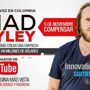 La Historia del Cofundador de YouTube, Chad Hurley en Colombia